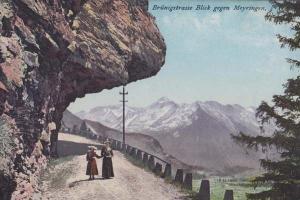 Brunigstrasse Switzerland Blick Gegen Swiss Old Antique Postcard