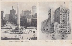 BUFFALO, New York, 00-10s; McKinley Monument, Niagara Sq. & Chamber of Commerce