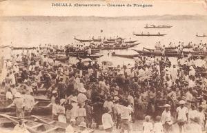 Cameroon Douala (Cameroun) - Courses de Pirogues, canoe, boats 1929