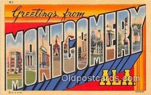 Large Letter Town Montgomery Alabama, USA Unused