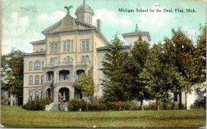 Flint Michigan~Michigan School for Deaf~Eagle on Rooftop~1909