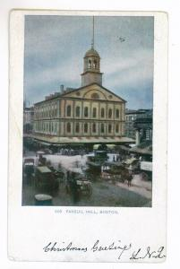 Wellesley Farms, Massachusetts to South Paris, Maine 1904 PC, Faneuil Hall