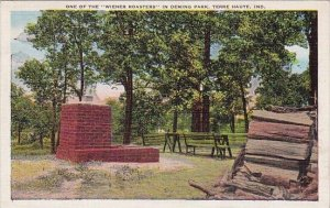 One Of The Wiener Roasters In Deming Park Terre Haute Indiana 1940