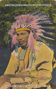 Young Indian Chief Cherokee Indian Reservation North Carolina