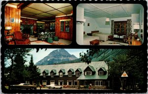 Waterton Lakes Nat. Park Alberta Canada Kilmorey Motor Lodge Postcard used 1960s