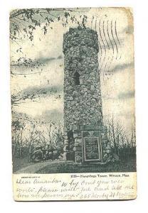 Norembega Tower, Weston, Massachusetts, Used 1906 Flag Cancel