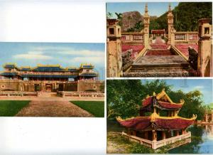 182214 Vietnamese Old Architecture set of 6 old postcards