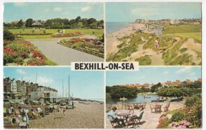 Sussex; Bexhill On Sea Multiview PPC, 1971 PMK, Shows Boating Lake, Egerton Park