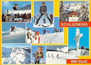 Grossskiregion Dachstein Tauern Ski Weltmeisterschaften Skiers Cable Car