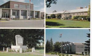 4-view postcard , BROOKS , Alberta , Canada , 50-60s