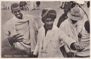 Asmara Ethiopia Africa Markets Trader Antique Postcard