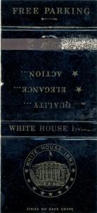 Charlotte, North Carolina/NC Matchcover, White House Inn
