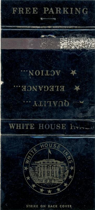 Charlotte, North Carolina/NC Matchcover, White House Inn