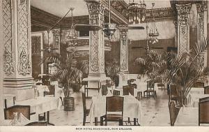 NEW ORLEANS, Louisiana  LA   New HOTEL DENECHAUD Interior Dining Room  Postcard
