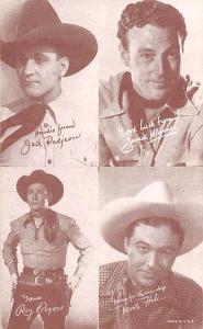 Jack Padjeon, James Warner, Roy Rogers, Monte Hale Western Actor Mutoscope Un...