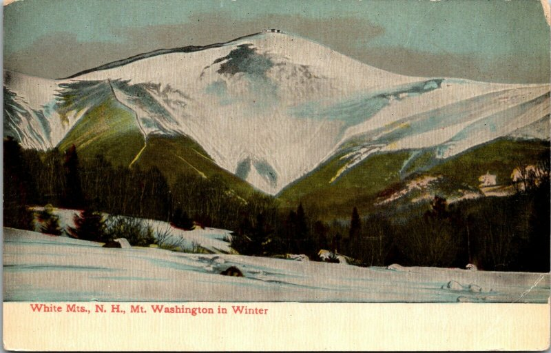 White Mountains New Hampshire NH Postcard  MT WASHINGTON