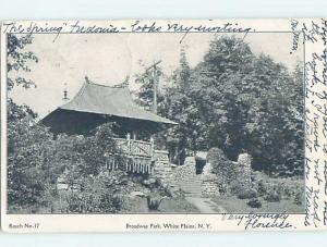 Pre-1907 PARK SCENE White Plains New York NY hp9598