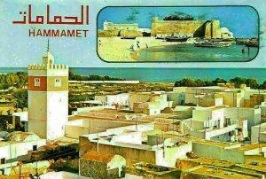 Tunisia Hammamet Mosquee Dans la Medina The Mosque Tower Harbour Postcard