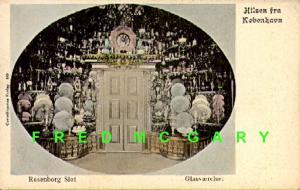 1905 Copenhagen Denmark Postcard: Glassware in Rosenborg Castle