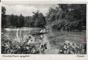 Hungary Goromboly Tapolca gyogyfurdo lake boats