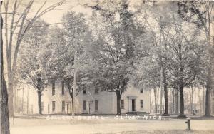 D11/ Olivet Michigan Mi Real Photo RPPC Postcard c1920 College Chapel