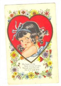 Valentine, 00-10s ; Girl with black hair