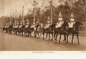 Life Guards in the Mall. Horses Tuck Real Photograph Postcard
