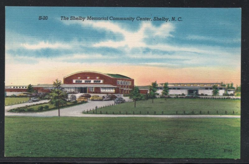 North Carolina colour pc Memorial Community Center Shelby, N.C unused