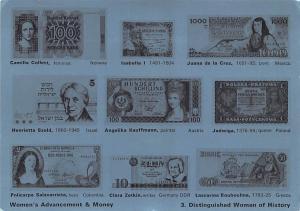 Italy Old Vintage Antique Post Card Women's Advancement & Money Unused