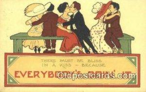 Artist Bernhardt Wall Postcard Post Card Old Vintage Antique postal used unknown