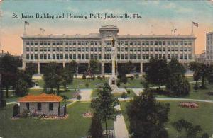 St. James Building and Hemming Park, Jacksonville,  Florida, PU-1914
