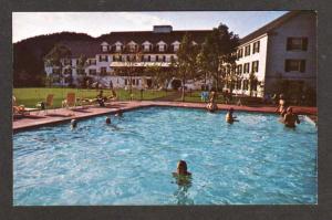 VT Woodstock Inn Hotel Pool Green Mts VERMONT Postcard