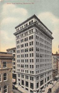 Baltimore Maryland Union Trust Building Antique Postcard J51252