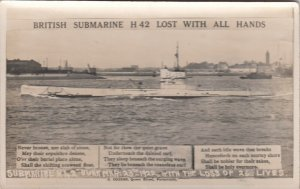 RP: British Submarine H 42 Lost with all Hands , 1922