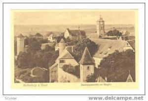 Stadtmauerpartie am Burgtor, Rothenburg o. Taub, Germany, 10-20s
