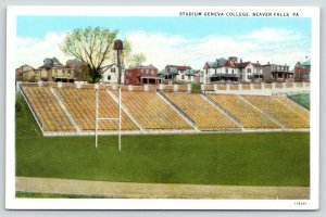 Beaver Falls PA~Geneva College Football Stadium~Stands~Homes & Water Tower~1920s