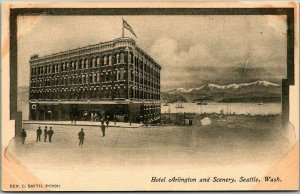 1900s SEATTLE Washington Postcard Hotel Arlington and Scenery Undivided Unused
