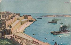 Malta Harbor Scene
