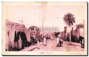 Old Postcard A street Algeria Tidjdit