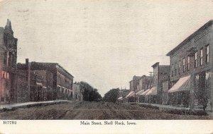 LPS64 SHELL ROCK Iowa Main Street Town View Postcard