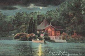 BALTIMORE , Maryland , 1910 , Druid Hill Park Lake at night