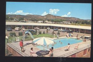SOUTH RATON NEW MEXICO SANDS MANOR MOTEL SWIMMING POOL VINTAGE POSTCARD