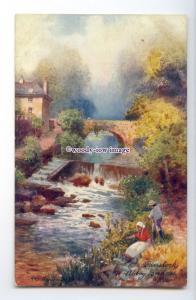 ar0628 - Abbey Bridges Tavistock - Artist - H.B.Wimbush - Postcard - Tuck's 7077