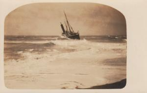 RP: BETHANY BEACH , Delaware, 00-10s ; Shipwreck on beach
