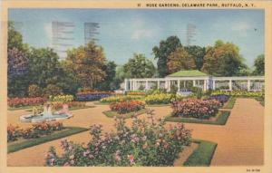 New York Buffalo Rose Gardens In Delaware Park 1946 Curteich