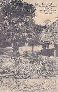 Belgian Congo District de l'Aruwimi Basoko Basket Weavers 1913