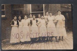 Yorkshire Postcard - Jam Factory Staff, Moorhouses    HM595