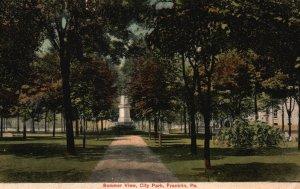 Franklin, Pennsylvania, PA, Summer View, City Park, 1908 Vintage Postcard h2331