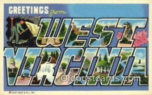West Virginia USA Large Letter Town Vintage Postcard Old Post Card Antique Po...