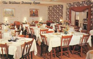 Lancaster Pennsylvania~Willows Hotel~Dining Room~Lincoln Highway~1957 Postcard